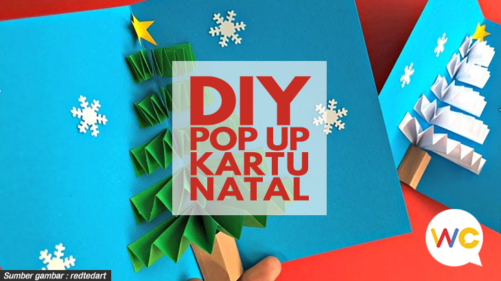 DIY Pop Up Kartu Natal